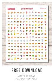 Journal Decorating Ideas by Free Printable Planner Stickers Mini Food Icons I Use These In