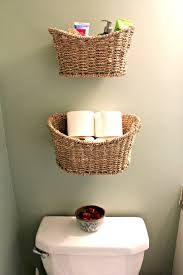 bathroom dark brown cylinder rattan bathroom storage basket