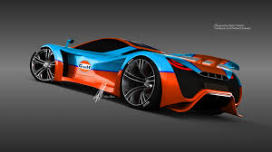 gulf racing wallpaper render pagani thawra in gulf theme by thebian concepts gtspirit