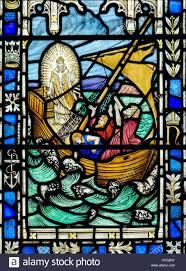 stained glass window stained glass window depicting jesus calming the storm st