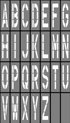48 inch parking lot stencils letter u0026 number stencils del