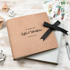 Leather Wedding Guest Book Personalised Large Natural Leather Guest Book U2013 Begolden