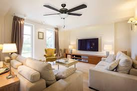 Ceiling Fan For Living Room by Living Room Hunter Ceiling Fans With White Fan Decor And Lighting