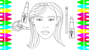 coloring pages kids draw woman u0027s face coloring