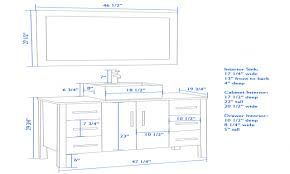 12 standard mirror sizes for bathrooms cambridge 59 inch double