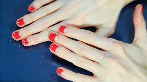 negative space manicure she u0027s in the glow