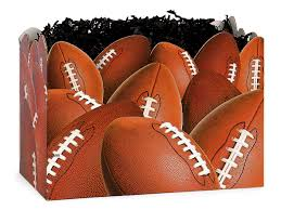 sports gift baskets large football gift basket boxes