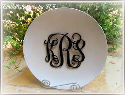 monogrammed platter embellishments by slr a monogrammed platter