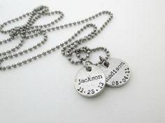 Personalized Mens Necklaces Personalized Mens Necklace Dog Tag Necklace Personalized