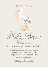stork baby shower baby shower invitations for basic invite