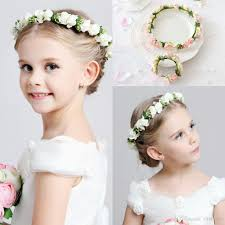flower girl headbands 2016 hot wedding bridal girl flower crown headband pink white