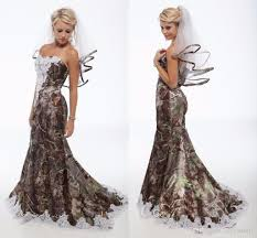 camo wedding dresses lace camo wedding dresses trumpet style forest camouflage