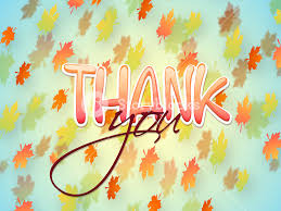 glossy text thank you on colorful maple leaves decorated beautiful