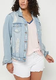 light distressed denim jacket light blue lined distressed denim jacket jean jackets rue21