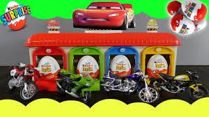 motocross toy bikes toy bike kinder surprise egg cars 3 mashems opening adventure