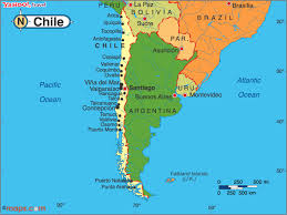chile physical map chile map