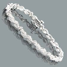 sterling silver bracelet with diamonds images Affordable ladies diamond infinity bracelet 0 18ct sterling silver jpg