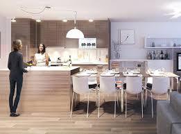 cuisine avec table à manger table ilot central superior modele cuisine avec ilot central table 1