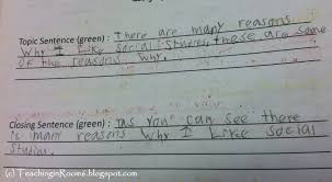 Examples Of Topic Sentences For Essays Paragraph Of The Week Teaching In Room 6