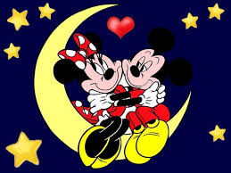 disney valentines mickey mouse minnie moon wallpaper