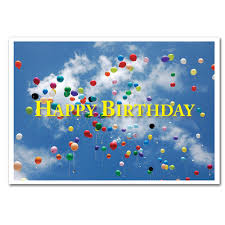 business birthday cards flying balloons boxed for corporate and