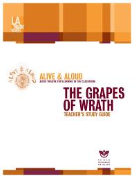 teacher u0027s study guide the grapes of wrath john steinbeck