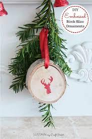 gorgeous glittering wood slice ornaments sustain my craft habit