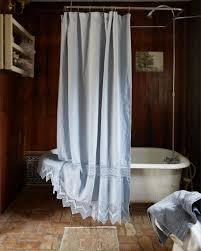 English Country Window Treatments by Beautiful Blue Bathroom Beauty Delicate Lace Detail Shabby Chic