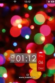 theme ls free ls hd bokeh colors clock iphone theme mobile theme