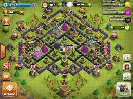 th8 4 mortar farming base splash waterpark clash of clans