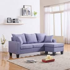 Small Space Sofa by Amazon Com Modern Linen Fabric Small Space Sectional Sofa With