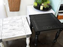 side table paint ideas painted side table ideas paint something your homes alternative