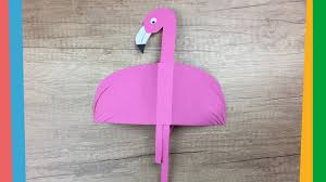 paper flamingo funny and easy diy summer craft for kids youtube