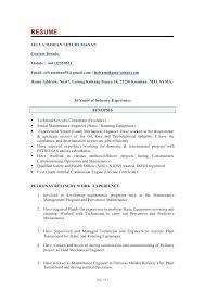Sample Of Resume For Mechanical Engineer Sample Resume Of Experienced Mechanical Engineer
