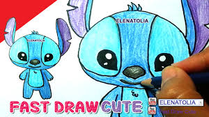 how to draw stitch step by step cute and easy from lilo and