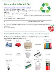 worksheet how to recycle in new york city