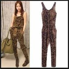 cheetah print jumpsuit 66 h m h m cheetah print jumpsuit with pockets size