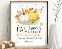 Thanksgiving Verses In Bible Thanksgiving Bible Etsy