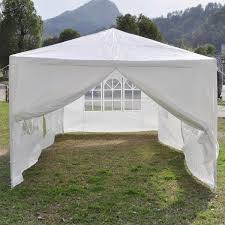 10 X 20 Shade Canopy by 10 X 20 White Party Tent Canopy Gazebo