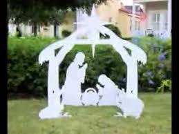 teak isle outdoor nativity set decoration