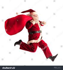 santa claus running stock photo 119864677 shutterstock