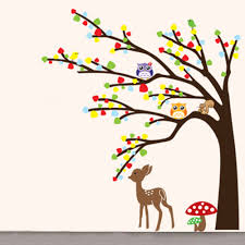 wall decal tree owl wall decal thousands pictures of wall cartoon cute animal deer owl tree mushroom diy wall wallpaper stickers
