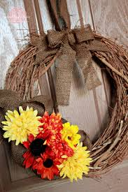home made fall decorations simple fall wreath sweet rose studio
