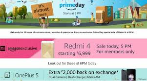 amazon says prime day was amazon prime day today redmi 4 sale at 5pm oneplus 5 cashback