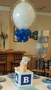 teddy themed baby shower the teddy centerpiece at this baby blocks bears and bowties