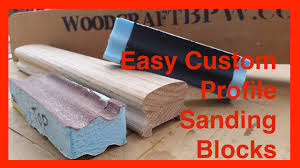 Sanding Banister Simple Diy Shop Made Sanding Blocks For Profiles And Odd Shapes