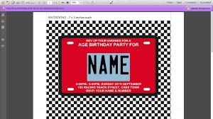 Mary Kay Party Invitation Templates Race Car Birthday Invitations U2013 Gangcraft Net