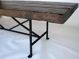 wood and iron dining room table dining room cool image of rustic rectangular reclaimed wood dining