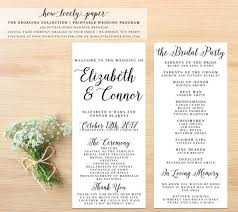 in memory of wedding program the 25 best printable wedding programs ideas on
