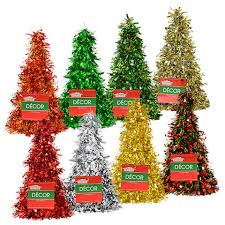 bulk house cone shaped tinsel trees 10 in at